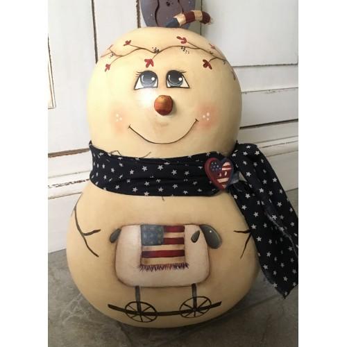 Zucca dipinta Simply Snowman con pecora