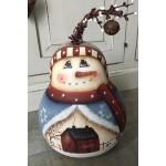 Zucca dipinta Sweet Snowman